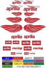 KIT 20 ADESIVI APRILIA RACING LEONE RSV4 THE FLYING MYTHOS MOTO STICKERS COD16