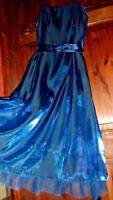 COAST Debut metallic blue rockabilly dress with net. Size 10-FLARED UNDERSKIRTS,