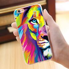 Courageous Lion Pattern Shockproof Thin Phone Case Cover Skin for iPhone 7Plus