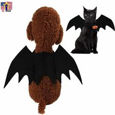 Black Bat Wing Cat Kitten Costume Puppy Cute Funny Pet Costume Cosplay Halloween