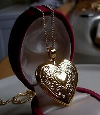 GENUINE LARGE 18ct Gold Locket gf,SILLY PRICE ALMOST SOLD OUT 9ct gold bling 32