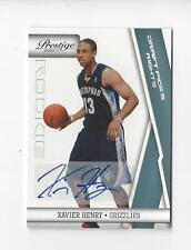 2010-11 Prestige #162 Xavier Henry Rookie AUTOGRAPH Grizzlies /199
