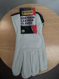 STEELTON Goatskin Leather Work Gloves pair new