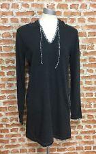 WHITE STUFF - (Size: UK 12) - Cotton/Angora Blend Long Knitted Hooded Tunic