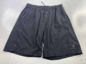 Rhone Men's Black Unlined Workout Athletic Drawstring Shorts Size Large