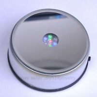 New Unique 360 Rotating Crystal Display Base Stand 7 LED RGB Light + DC adapter