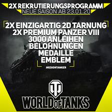 World of Tanks | 2x Rekrutierungsprogramm | EU Server | !!! Angebot !!!
