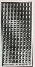 Klasseziffern DB/DRG Epoche 2-3 Decals 1:87 oder H0