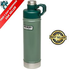 Classic Vacuum Thermos Bottle Coffee Green Stanley Hammertone 1.1 Qt Stainless