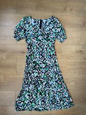 H&M Floral Vestido Maxi Talla 18-Hm Negro Blanco Verde