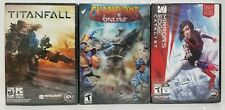 PC GAME LOT - TITANFALL / MIRROR'S EDGE CATALYST / CHAMPIONS ONLINE - BRAND NEW