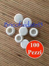 100 Pezzi  Tappo Copriforo ø 12 In PVC Morbido - Bianco, Grigio Chiaro, Nero.