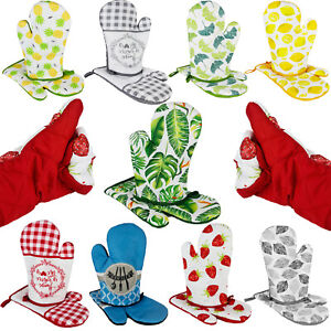 Kochhandschuh Ofenhandschuh Küchenhandschuh Topfhandschuh mit Magnet 2er Set