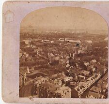 RARE Stereoview Photo- Panorama Bird's Eye View - Charlestown MA - Boston 1870s