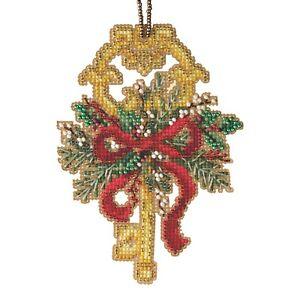 Winter Key Cross Stitch Ornament Kit Mill Hill 2021 Antique Keys Trilogy