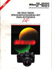 Nikon F-501 Die Neue Nikon Spigelreflexkamera mit dual-Autofokus Prospekt Nr.B32