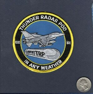 F-16 FIGHTING FALCON TRP Thunder Radar Pod USAF ANG Foreign Squadron Patch