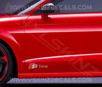 2x Audi S-line Logo Premium Cast Door Decals Stickers TT RS A3 A4 A5 Q3 Quattro