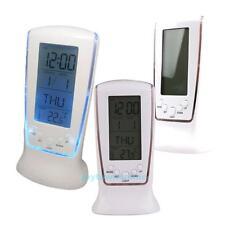 Multifunction Desk Digital LCD Alarm Clock Calendar Thermometer LED Backlight
