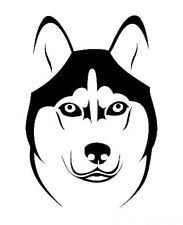 HUSKY DOG STICKER DECAL FOR CAR, 4WD, TRAILER, LAPTOP BRAND NEW