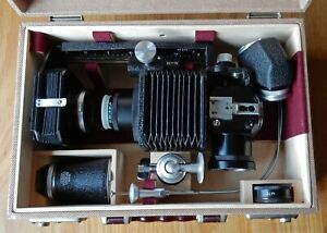 CASED LEITZ MACRO BELLOWS SET WITH ACCESSORIES + 50mm f4.5 FOCOTAR AND KEYS