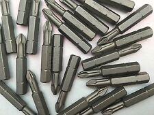 "25X PZ2 BITS GERMANY HIGH QUALITY 40mm X 6mm1/4"" hex fits standard bit holders"