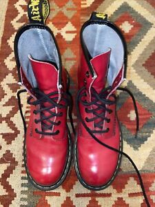 Dr Martens 1460 6 39 Red Patent 8 Hole Air Wair