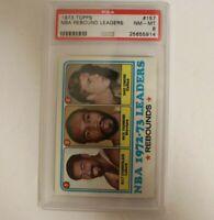 1973 Topps Wilt Chamberlain NBA Rebound Leaders #157 PSA 8 NM-MT