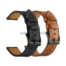 20mm 22mm Classic Genuine Leather Watch Band Strap Quick Release Wristband