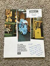 1968 Clark powered material handling equipment sales catalogue.