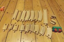 thomas the tank wooden track 19 sections including 2 buffer stops plus carriage