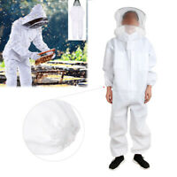 Professional Full Body Beekeeping Bee Keeping Suit with Veil Hood White