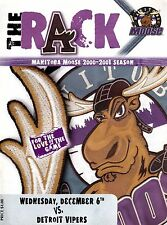 Detroit Vipers / Manitoba Moose 2000-01 Minor Pro Hockey Program msc8