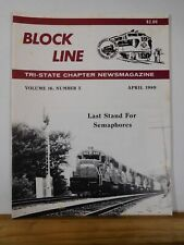 Block Line NRHS 1989 April Conrail Freight Schedules PA