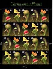 Carnivorous Plants 34 cent Stamp Sheet 20 3528-3531 2001 Mint NH Free Shipping