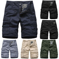 Mens Cargo Combat Pocket Shorts Pants Casual Workwear Army Summer Short Trousers