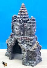 Aquarium Ornament Temple Gate Angkor Wat Cave Fish Tank Decoration