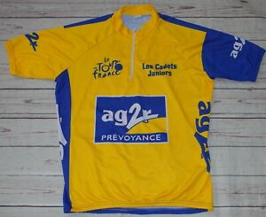 Tour De France Les Cadets Juniors Yellow Short Sleeve Cycling Jersey