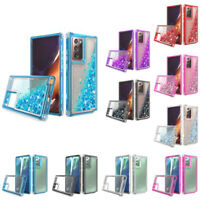For Samsung Galaxy Note 20 Ultra / Note 20 Shockproof Liquid Glitter Bling Case