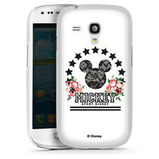 Samsung Galaxy S3 mini Handyhülle Case Hülle - Mickey Mouse - College Flowers