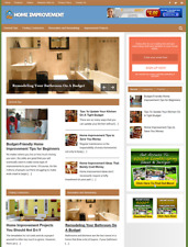 HOME IMPROVEMENT - Fully Featured Niche Website For Sale - Newbie Friendly