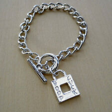 Good Luck Charm Bracelet With Toggle Clasp and Padlock