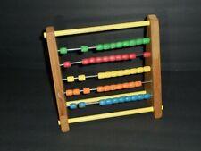 Vintage Wood Sandberg Abacus Beads Math School Educational Toy Counting