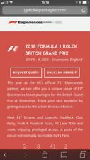 Silverstone GP F1 Experiences Starter Pack Ticket