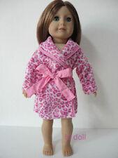 "Wholesale American girl 18"" Doll Clothes Leopard Pajamas Robe Sleep Coat 2pc"