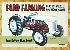 US Seller- plaque on the wall decorations Ford Farming tractor tin metal sign