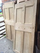 #6 Reclaimed Antique Stripped Pine 4 Panel Country House Cellar Door