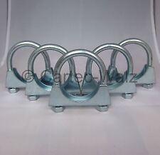 5 Stück Universal Auspuffschellen Rohr-Bügel Schellen  U-Bolt Clamp  M10 Ø 55mm
