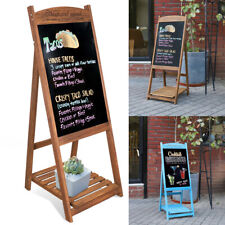 More details for a-board pavement sign advertising menu sandwich wooden frame blackboard outdoor