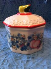 NOS 2003 AVON SWEET COUNTRY HARVEST BUTTER TUB WITH LID